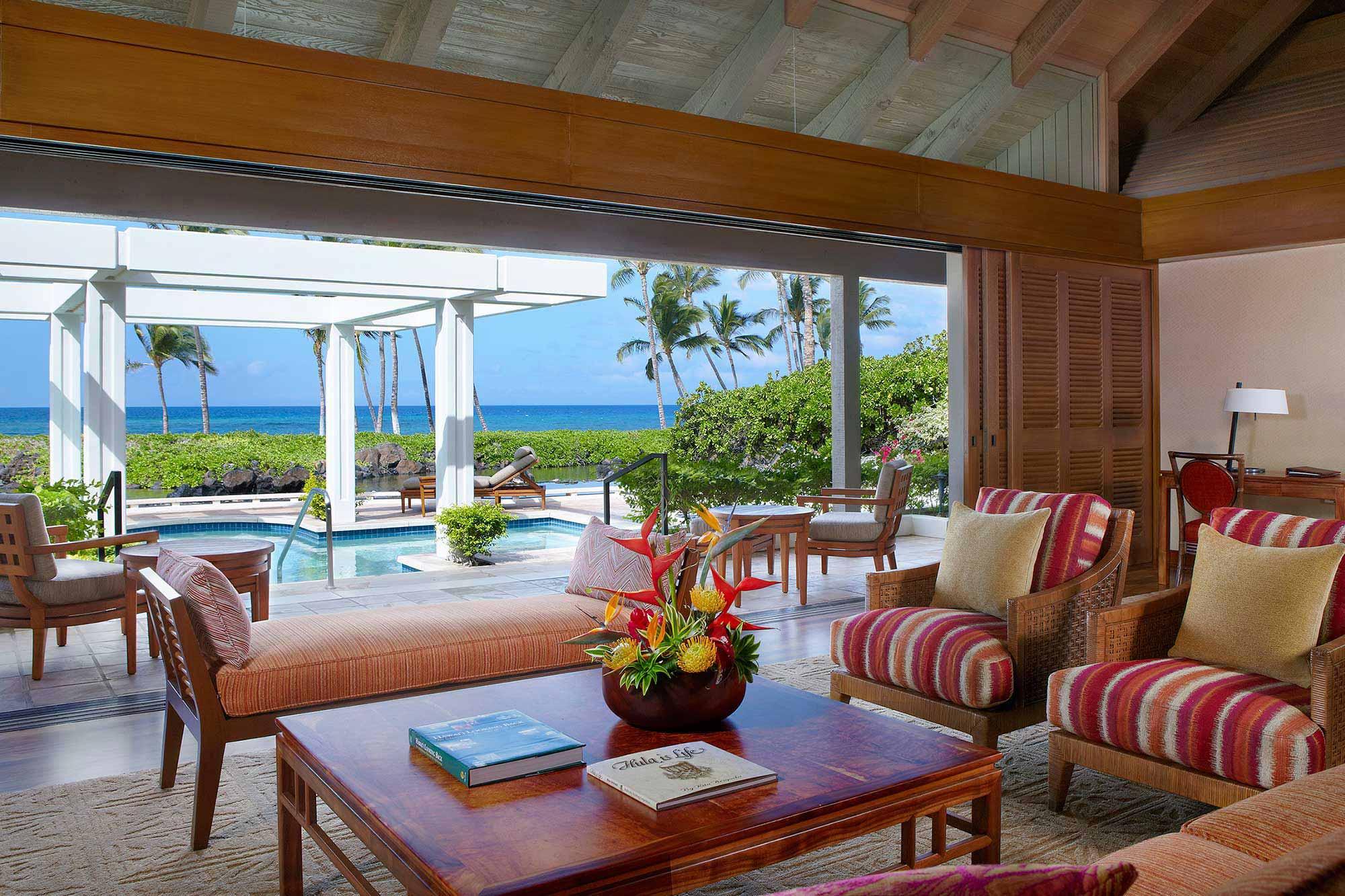 Mauna-Lani-Ocean-Front-Bungalow-Living-Room